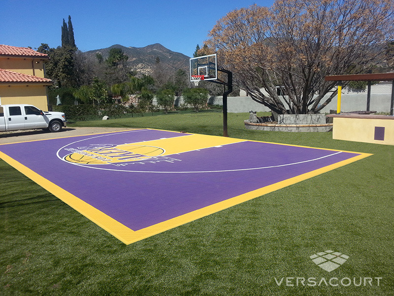 Onelawn installer of outdoor basketball courts for Outdoor half court basketball dimensions