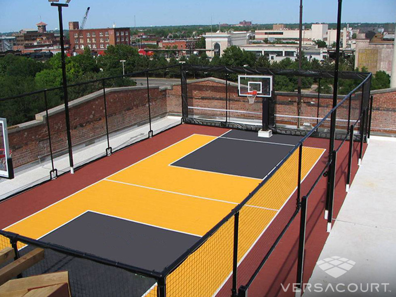Onelawn installer of outdoor basketball courts for Home outdoor basketball court cost