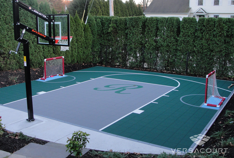 Onelawn backyard multi game court installations for Sport court paint
